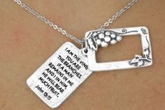 I Am The Vine, You Are The Branches John 15:15 - Charm and Necklace