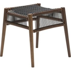 Loom Stool Walnut, Black Cords (2,880 CNY) ❤ liked on Polyvore featuring home, furniture, stools, walnut stool, woven stool, walnut furniture and walnut wood furniture