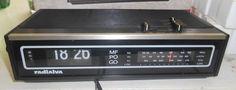 Radio Reveil Vintage Radialva EN Boite TBE   eBay