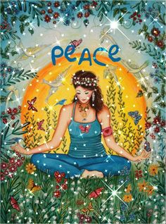 Namaste: The Top 5 Yoga Inspired Artworks Peace On Earth, World Peace, Love And Light, Peace And Love, Peace Love Happiness, Yoga Studio Design, Mudras, Give Peace A Chance, Yoga Art