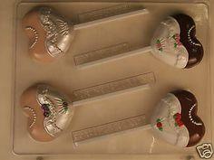Wedding Dress Chocolate Lollipop Candy Mold