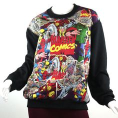 Super Hero Marvel Comic Patched Unisex Fleece by UnpluggedStudio.  Bit overboard? Nah, I could pull this off. Maybe.