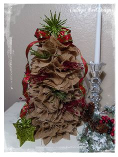 burlap christmas ornaments | If you have any questions, please ask away. Happy Crafting & Happy ...