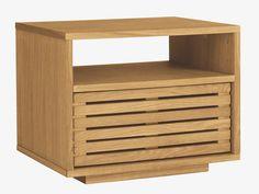 MAX NATURAL Wood Oak 1 drawer bedside table - HabitatUK