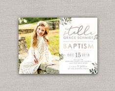 Custom Cards & Party Printables by announcingyou Christmas Collage, Christmas Cards, Baptism Announcement, Lds Church, Baptism Invitations, Custom Cards, Photo Cards, White Envelopes, Color Schemes