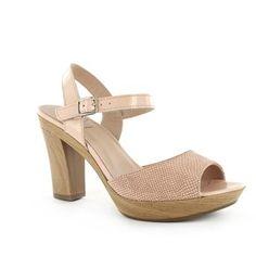 Wonders sandalen met reptielstructuur | www.Brantano.be