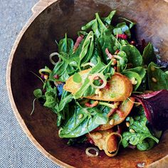 Salade d'épinards au bacon et aux pignons 4 portions de Jamie Oliver #Noel #JamieOliver #salade