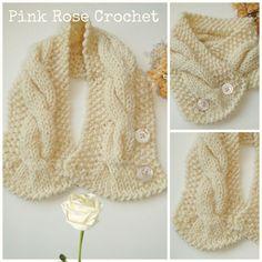 Hand Knit Neck Warmer Gola de Tricot com Ponto Trançado. De alguns anos atrás, mais um acessório de inverno feito por mim, eu fiz com a...