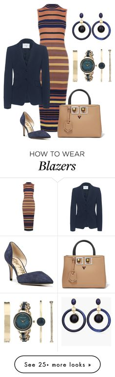 """""""Untitled #1579"""" by bsimon623 on Polyvore featuring Warehouse, Dondup, Sam Edelman, Fendi, Anne Klein and Chico's"""