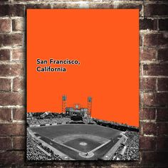 SF Giants MLB Baseball Art Print 12x16 by PrintWell on Etsy, $15.00