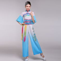 New Bi Rain Orchids classical dance costume ethnic female fan stage performances opening party costumes