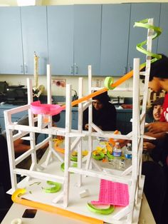 Students's in Ms. Despenza's #Physics class are building paper roller coasters for their end of the year project. #STEMed