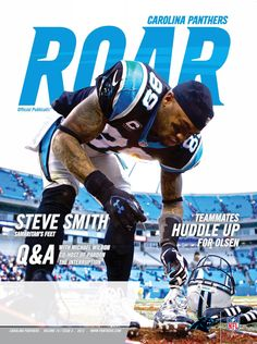 WR Steve Smith is featured on the cover of the latest issue of ROAR Magazine