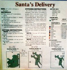 Santa delivery pattern info plastic canvas 2 of 4