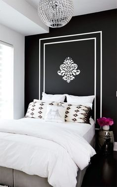 I love simple ideas that anyone can do. Painting a wall for a head board is a fantastic idea!