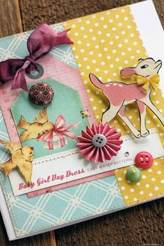 SO CUTE!!! Little Bo Peep @Crate_Paper  - Baby Girl Card by Jowilna Nolte