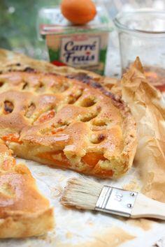 Tarte aux abricots et crème d'amandes au Carré Frais {recette} , pour un goûter carrément gourmand !