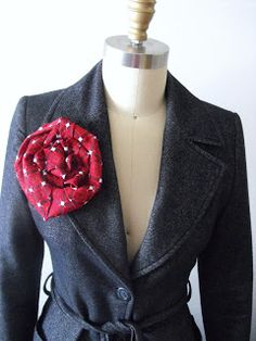 I have always been fascinated with recycled tie projects but had never tried one before until now. This oversized Brooch started life as...
