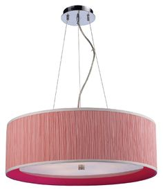 Buy the Elk Lighting Polished Chrome / Pink Shade Direct. Shop for the Elk Lighting Polished Chrome / Pink Shade 5 Light Pendant with a Pink Fabric Drum Shade from the Le Triumph Collection and save. Sconce Lamp, Elk Lighting, Kitchen Pendant Lighting, Pendant Lighting, Light, Lighting, Pink Table Lamp, Drum Pendant Lighting, Polished Chrome