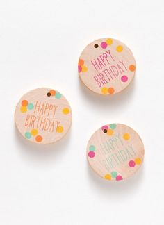 Happy Birthday Gift Tags, Set of 3 // Bud and Vine