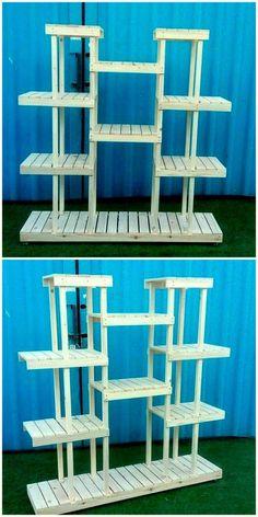 diy plant stand New pallet furniture diy shelves plant stands ideas Diy Pallet Furniture, Diy Pallet Projects, Wood Projects, Woodworking Projects, Pallet Ideas, Furniture Ideas, Wooden Plant Stands, Diy Plant Stand, Recycled Pallets