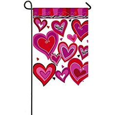 Evergreen Kiss Me Suede Garden Flag, 12.5 x 18 inches