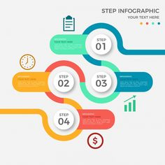 Infographic - Infographic Design - Colored round infographic with four steps Free Vector Infographic Design : – Picture : – Description Colored round infographic with four steps Free Vector -Read More – Web Design, Design Plat, Chart Design, Diagram Design, Round Design, Free Infographic Templates, Infographic Powerpoint, Infographic Posters, Timeline Infographic