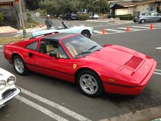 Classic Car Show, Classic Cars, Ferrari 328, Germany And Italy, Pretty Cars, America And Canada, Cars And Coffee, Classic Italian, Manual Transmission