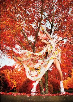 Earth Angel  Daria Werbowy cavorts with nature's bounty in spring's most romantic and diaphanous dresses.    Photographed by Ryan McGinley  Styled by Edward Enninful