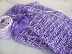 Sciarpa con fili d'argento http://dirittierovesci.blogspot.it/2008/12/sciarpa-con-filo-dargento.html