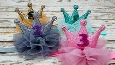 ●APPLEMINT HOUSE IS THE ORIGINAL EMBELLISHED ALL PRINCESS GLITTER CROWN ●  ************************************************************************** ●●Please Leave a note What Number you want●● (Ex.) Number 2  *Color:Hot Pink/Gold/Silver/Mint *Stone Material: Crystal Stones *Crown