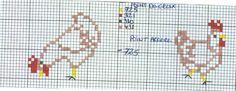hand made french cross stitch chart