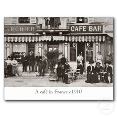 french cafe postcards - Google Search