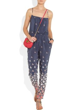 Paul & Joe | Printed silk jumpsuit. WANT! Thanks for the heads up @Refinery29