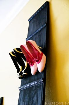 LEDG Shoe Storage Solution  Leaning Shelf Wood Shoe by televised