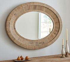 Quinn Oval Wall Mirror #potterybarn 38.5 w x 50.0 h x 2.5 deep