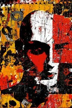 Artist Becomes Enlightened. Collage Portrait, Collage Art, Street Art, Street Graffiti, Modern Art, Contemporary Art, Amazing Art, Awesome, Art Journal Inspiration