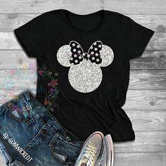 Minnie Mouse Glitter // T-shirt or Tank Top // Sweatshirt // Hoodie // Disney shirts // Mouse shirts // Glitter Minnie // Magic Kingdom - Inspirational T Shirts - Ideas of Inspirational T Shirts - Disney Inspired Outfits, Disney Outfits, Disney Style, Cute Outfits, Disney Fashion, Disney Clothes, Travel Shirts, Vacation Shirts, Disney Shirts