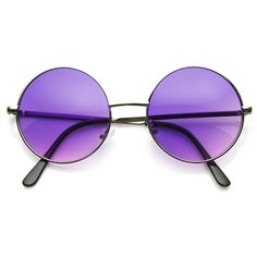 Vintage Oversized Silver Purple Round Sunglasses 8370ZU (£22) ❤ liked on Polyvore featuring accessories, eyewear, sunglasses, glasses, fillers, vintage sunglasses, round frame glasses, oversized round sunglasses, oversized vintage sunglasses and oversized glasses