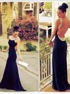royal blue prom dress,long Prom Dress,backless prom dress,2016 prom dress,party dress,BD1370