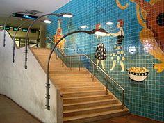 Bela Silva   Estação / Station Alvalade   Metropolitano de Lisboa / Lisbon Underground   2006 #Azulejo #BelaSilva #MetroDeLisboa
