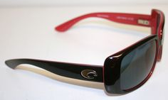 Costa Del Mar Sunglasses  (Little Harbor Black Rose Frame, Women's Pre-owned Designer Sun Glasses)