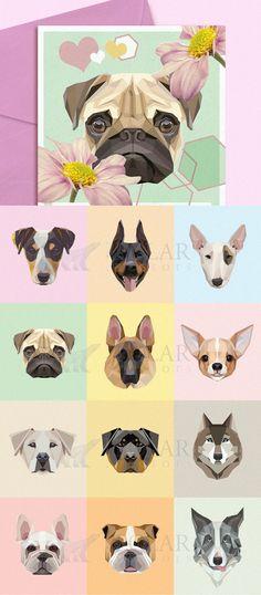 Dog-breeds-portraits-vector-illustration-set.jpg (JPEG Image, 800×1827 pixels) - Scaled (51%)