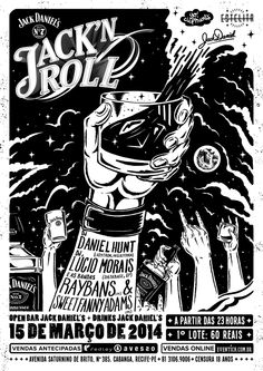 JACK'N ROLL • Jack Daniel's Party by Caramurú Baumgartner, via Behance