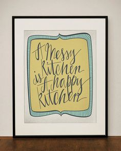 Messy Kitchen 11x14 Art Print by ProjectType on Etsy, $23.00