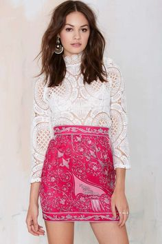 Vintage Emilio Pucci Elora Silk Skirt