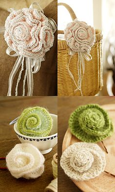 Flower Corsage - free pattern on Ravelry from by Pierrot (Gosyo Co. Ltd) - with free English PDF download