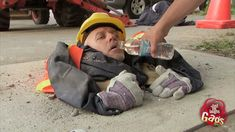 Man Crushed By Cement Prank, via YouTube.