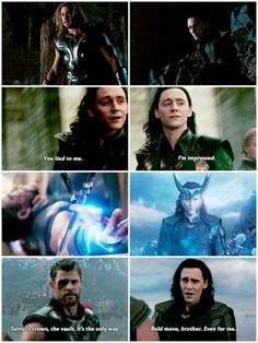 Loki being not-so-secretly proud of and happy for his big brother's successes :)