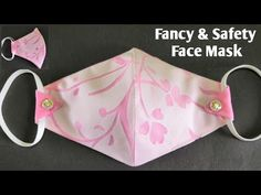 Sewing Hacks, Sewing Tutorials, Sewing Projects, Sewing Patterns, Tutorial Sewing, Easy Face Masks, Diy Face Mask, Crochet Mask, Quick Crafts